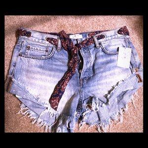 Free People Dayflower Blue Shorts Size 29